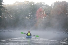 Paddling Into Fog - Royal River