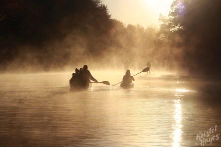 Silhouettes Paddling-Royal River, Yarmouth Maine