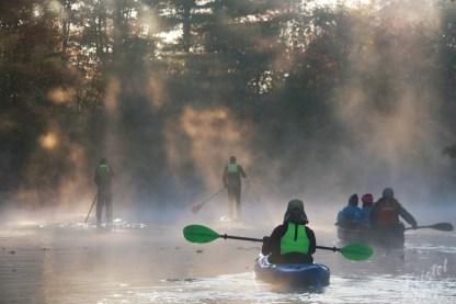 Sunny Rays Through Mist-Royal River, Yarmouth Maine