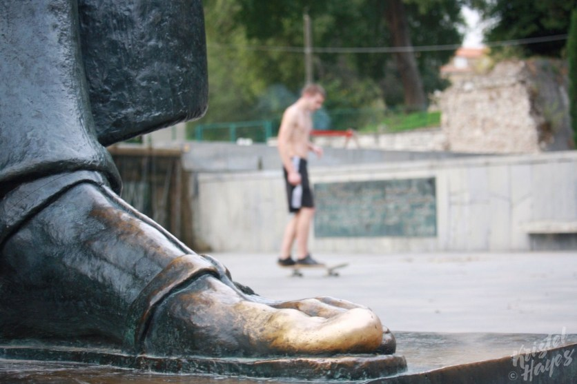 Bishop Gregory's Foot-The Old and the New, Split Croatia
