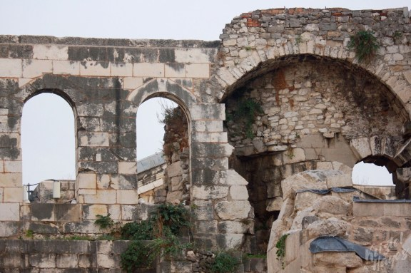 Ruins Outside the Cathedral of St. Dominus, Split Croatia