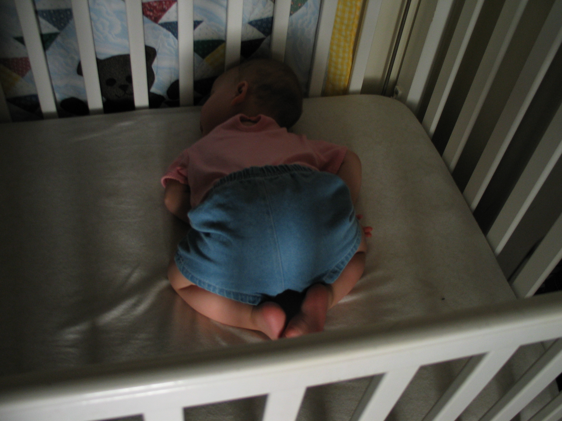 Baby escapes crib youtube - My First Baby In The White Crib