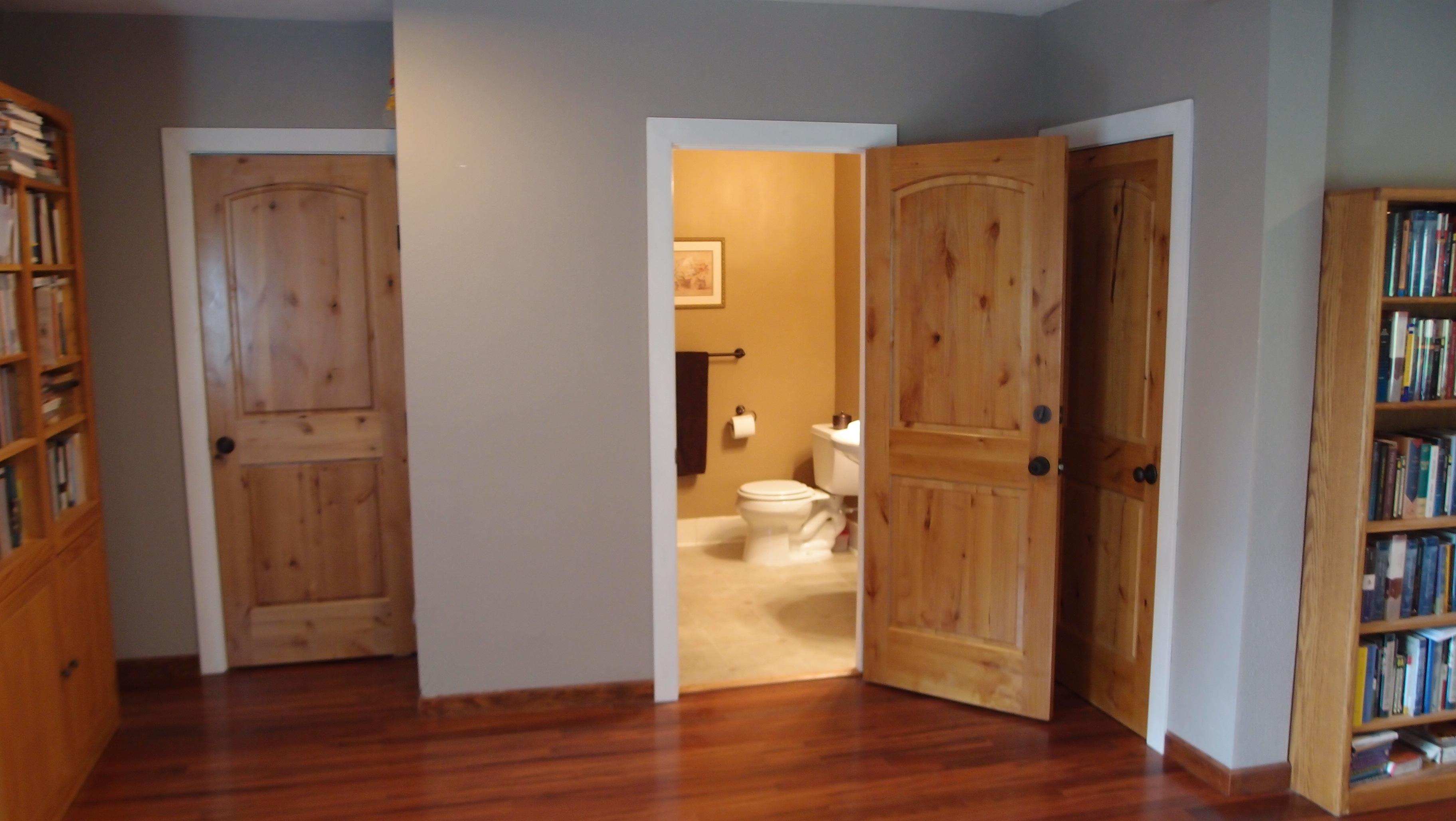 Interior crawl space door - Bathroom Renovation