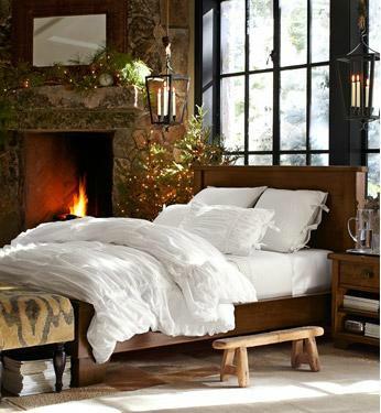 mossy fireplace