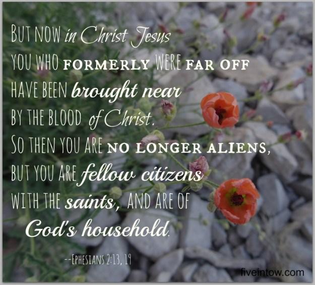 Ephesians 2:13,19