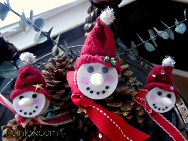 Snowmen votive ornaments