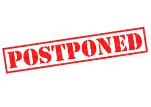 Postponing my journey