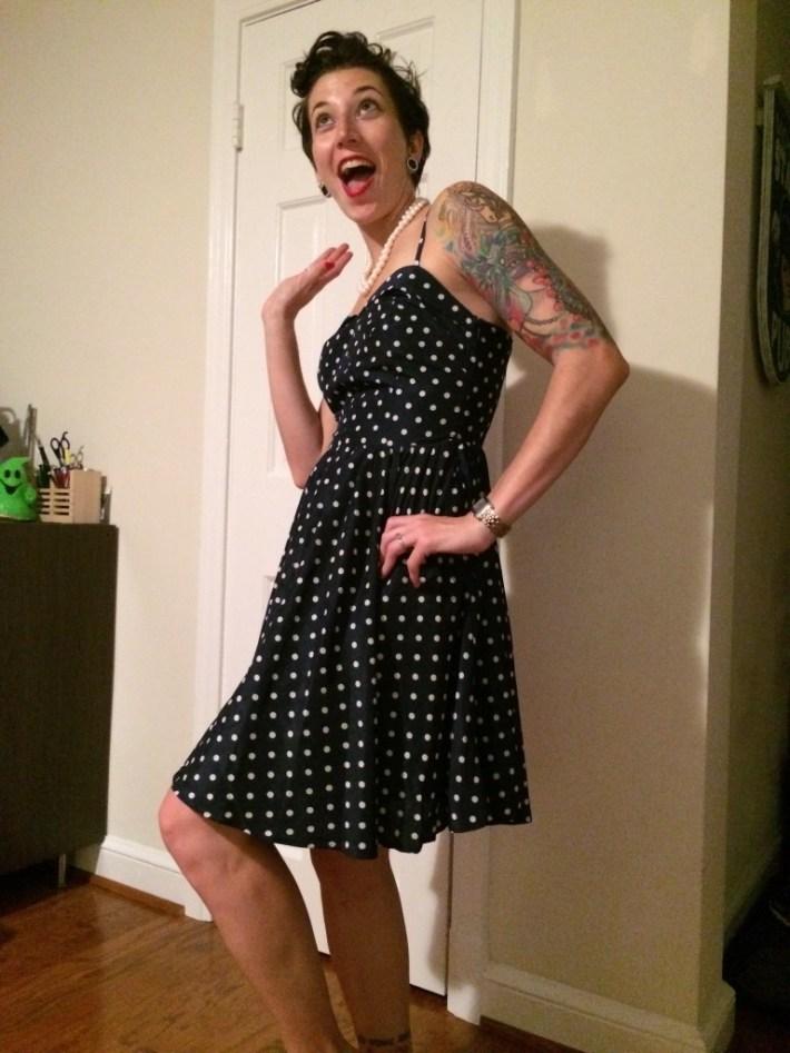 Pixley Karolina Spaghetti Strap Polka Dot Dress