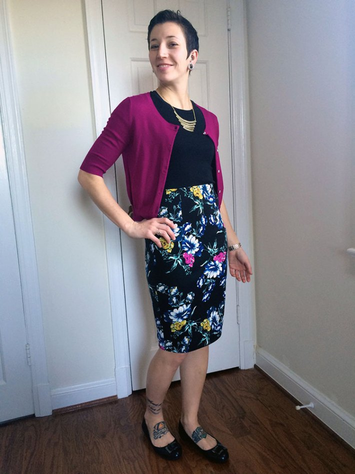 Eight Sixty Iona Pencil Skirt (paired with my own cardigan)