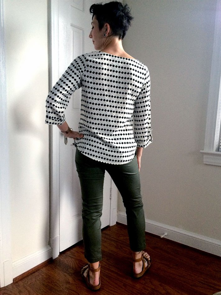 Brixon Ivy Bixby Clover Print Blouse (back)