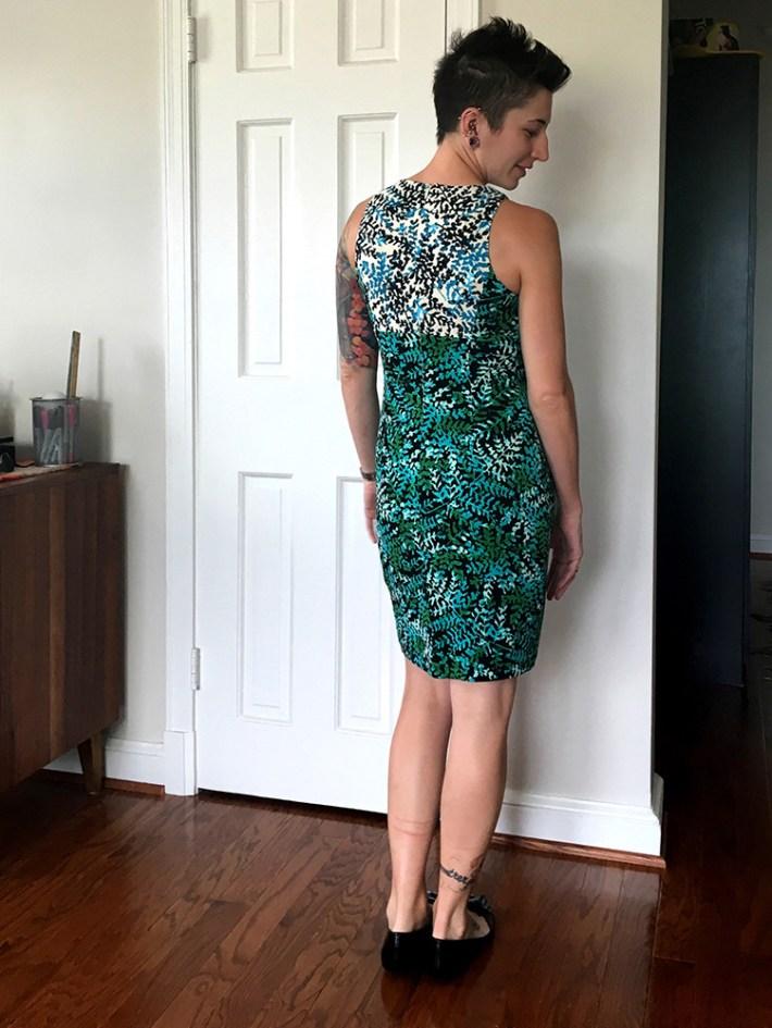 Maggy London Valencia Knit Dress (back)
