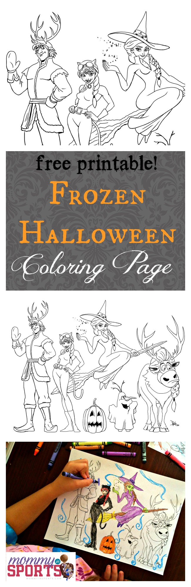 Frozen halloween coloring page mommy sports, i love you mommy coloring pages