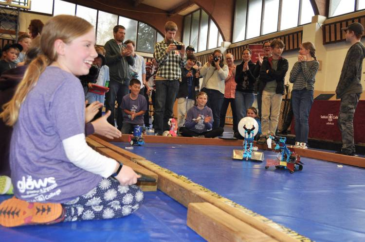 Robot rumble at Selkirk College