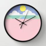 moonrise on the beach clock