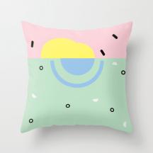 Sunset on Venice Beach pillow by Kodiak Milly Kristen Lourie