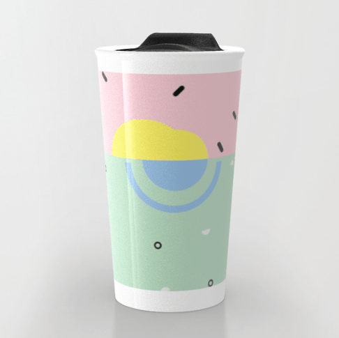 Sunset on Venice Beach travel mug