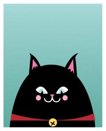 black cat print by Kodiak Milly