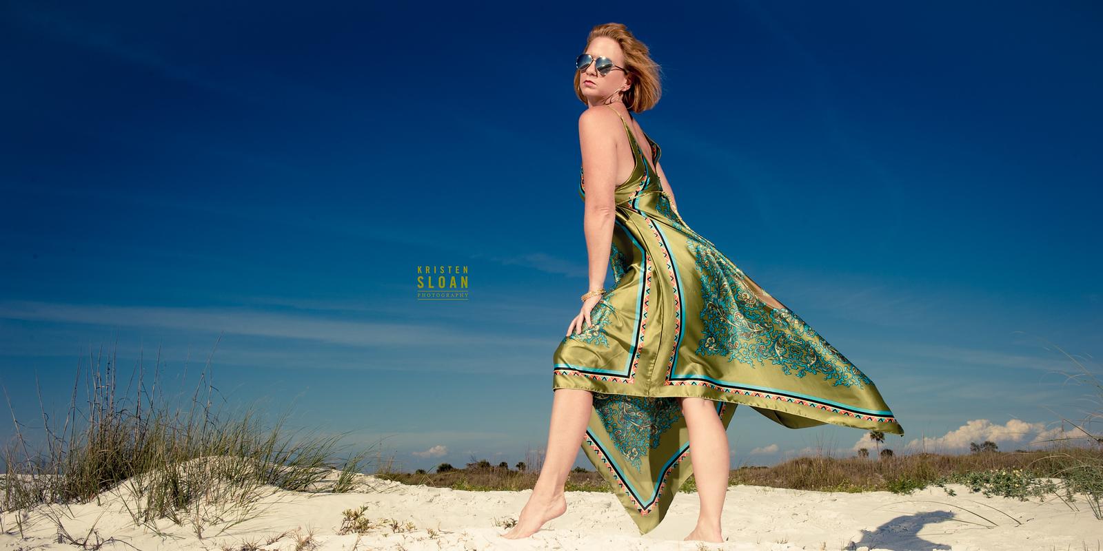 florida beach portraits white sand blue skies
