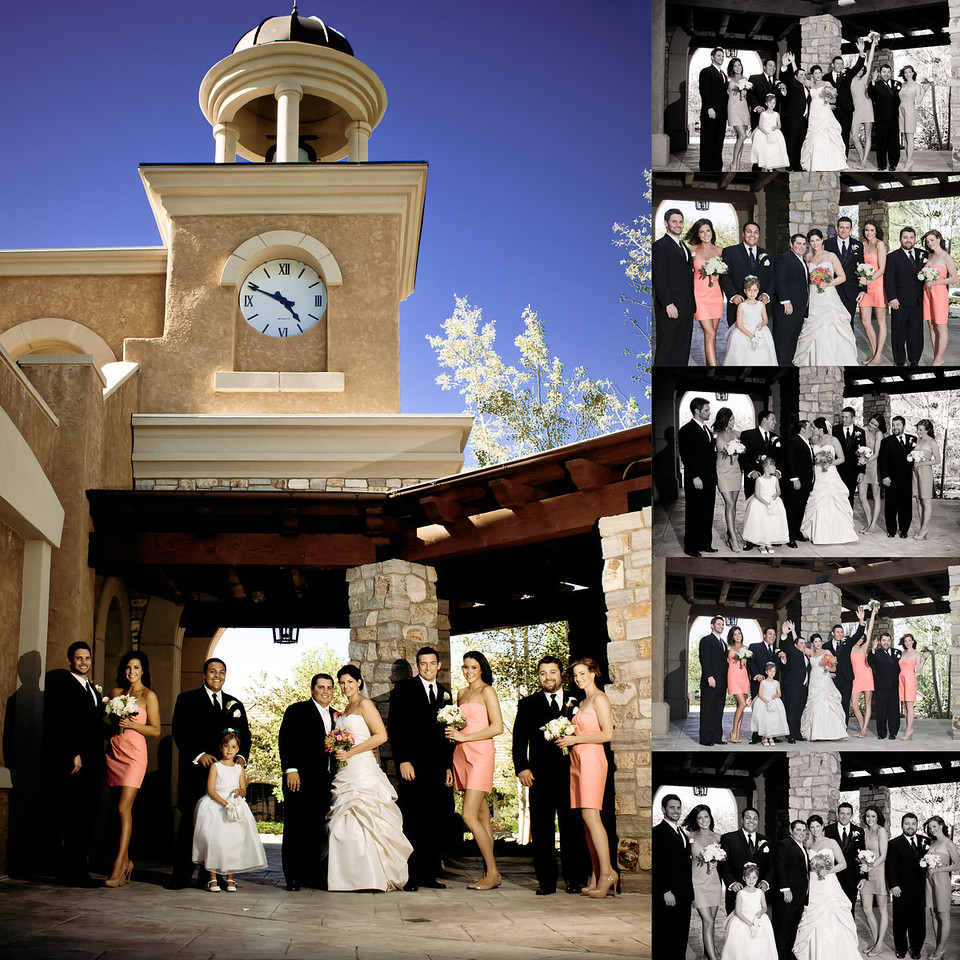 bridal party colorado wedding country club