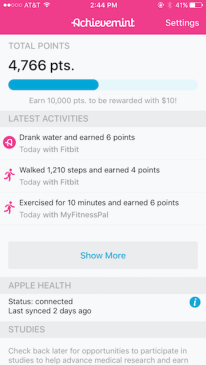 achievemint earnings - 7 money making apps