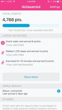 achievemint earnings - 7 money making apps