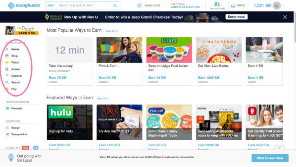make money online with swagbucks 2