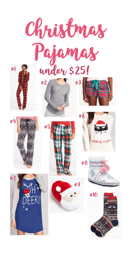 Christmas Pajamas under $25