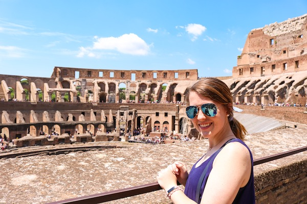 Kristen Shane Europe the Colosseum