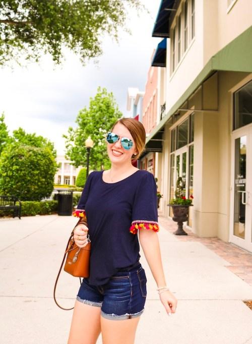 Navy tassel top Kristen Shane 6