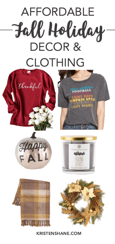 Affordable Fall Holiday Decor and Clothing