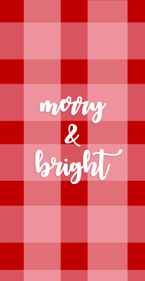 Merry and Bright Christmas Phone Wallpaper Kristen Shane