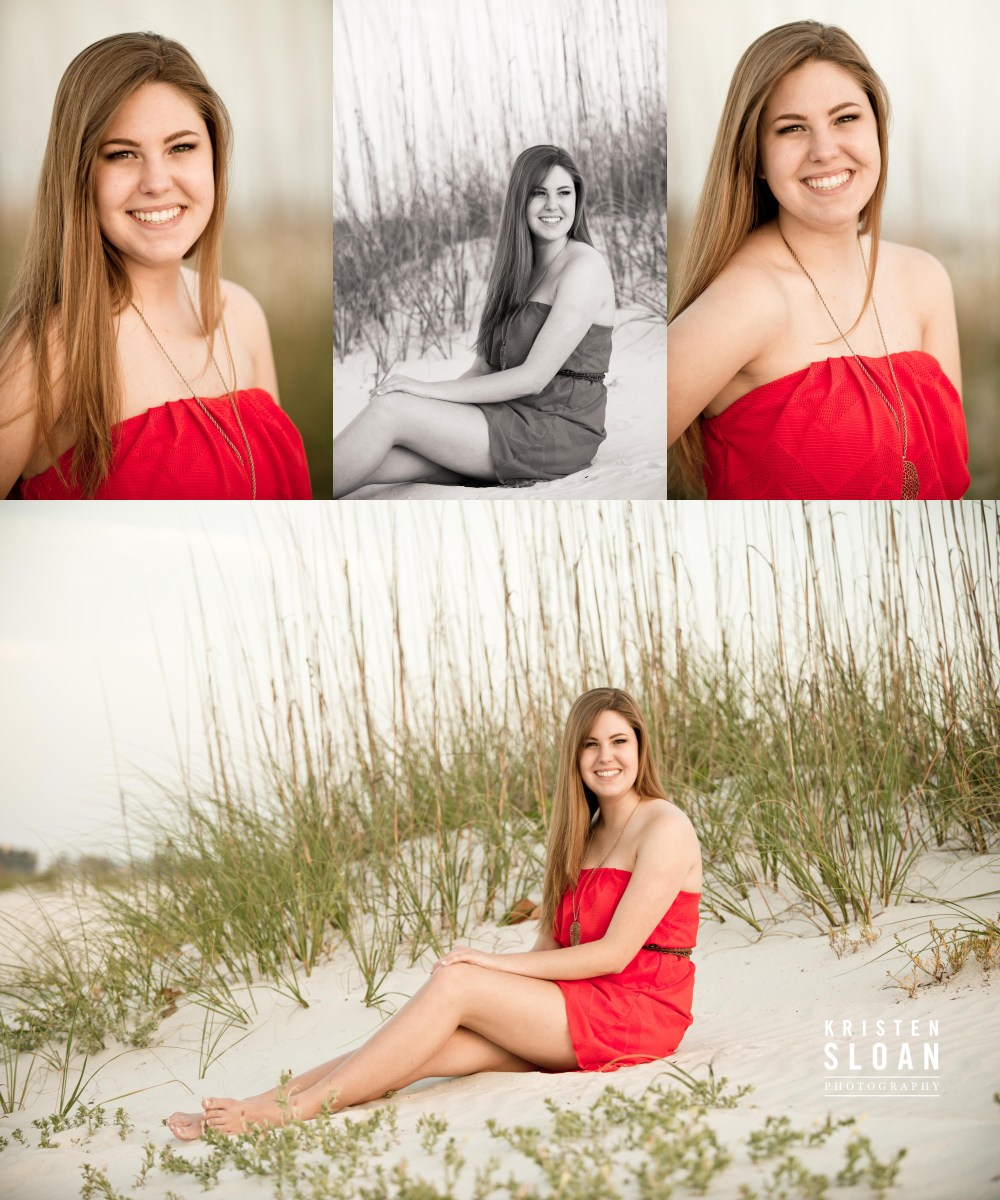 Treasure Island St Pete Beach Senior Portrait Photos by Kristen Sloan Photography