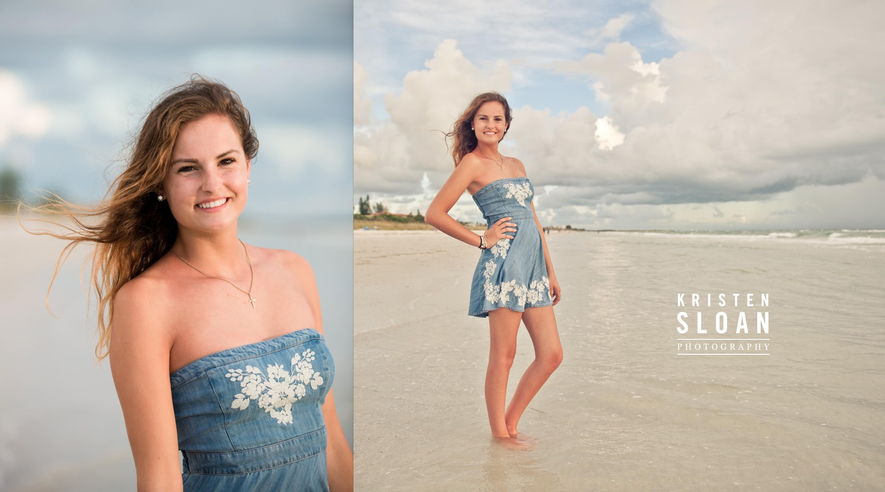 Pass A Grille Beach Senior Portrait Photos by Kristen Sloan Photography