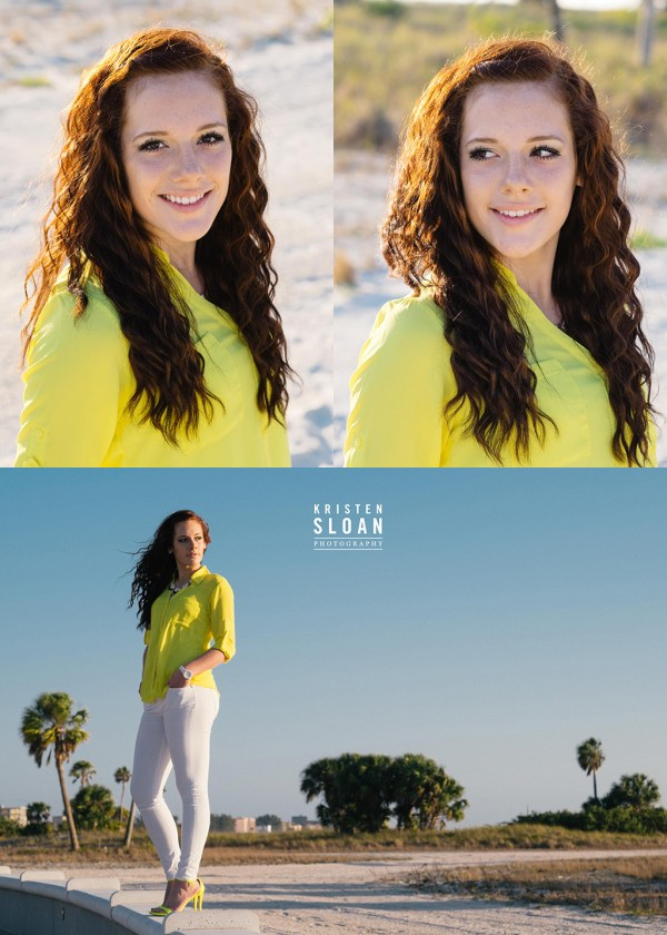 St Pete FL Beach Senior Portrait Photos at Treasure Island