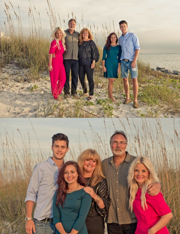 Lands End Sunset Beach St Pete Beach Family Senior Portraits by