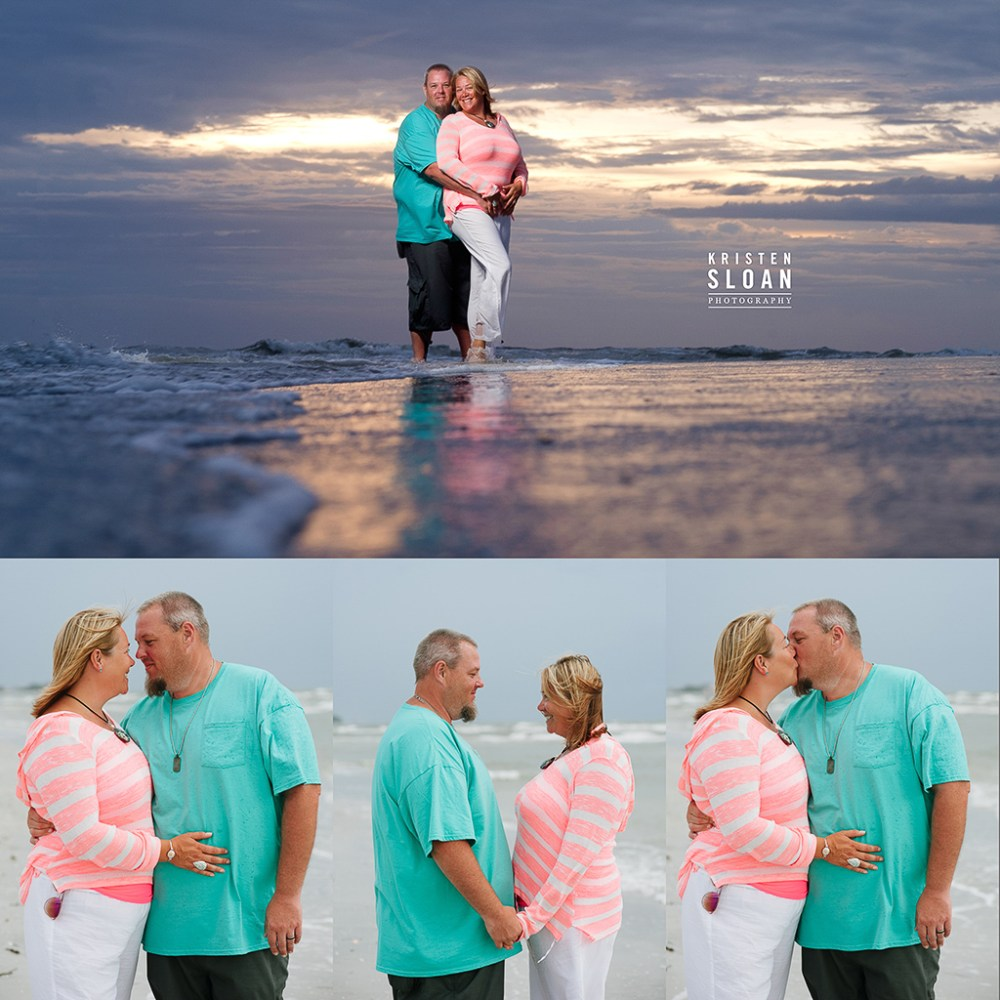 Treasure Island Beach FL Family Reunion Sunset Portraits by Kristen Sloan Photography