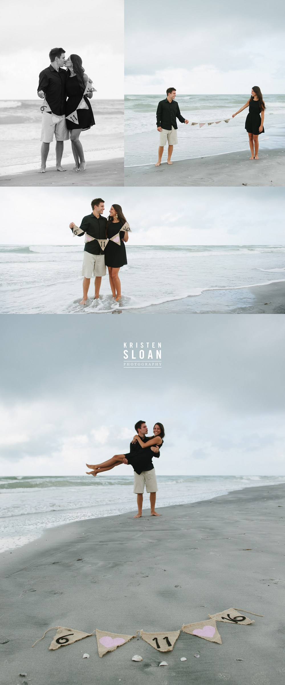St Pete Beach Treasure Island Couples Engagement Portraits by Kristen Sloan Photography