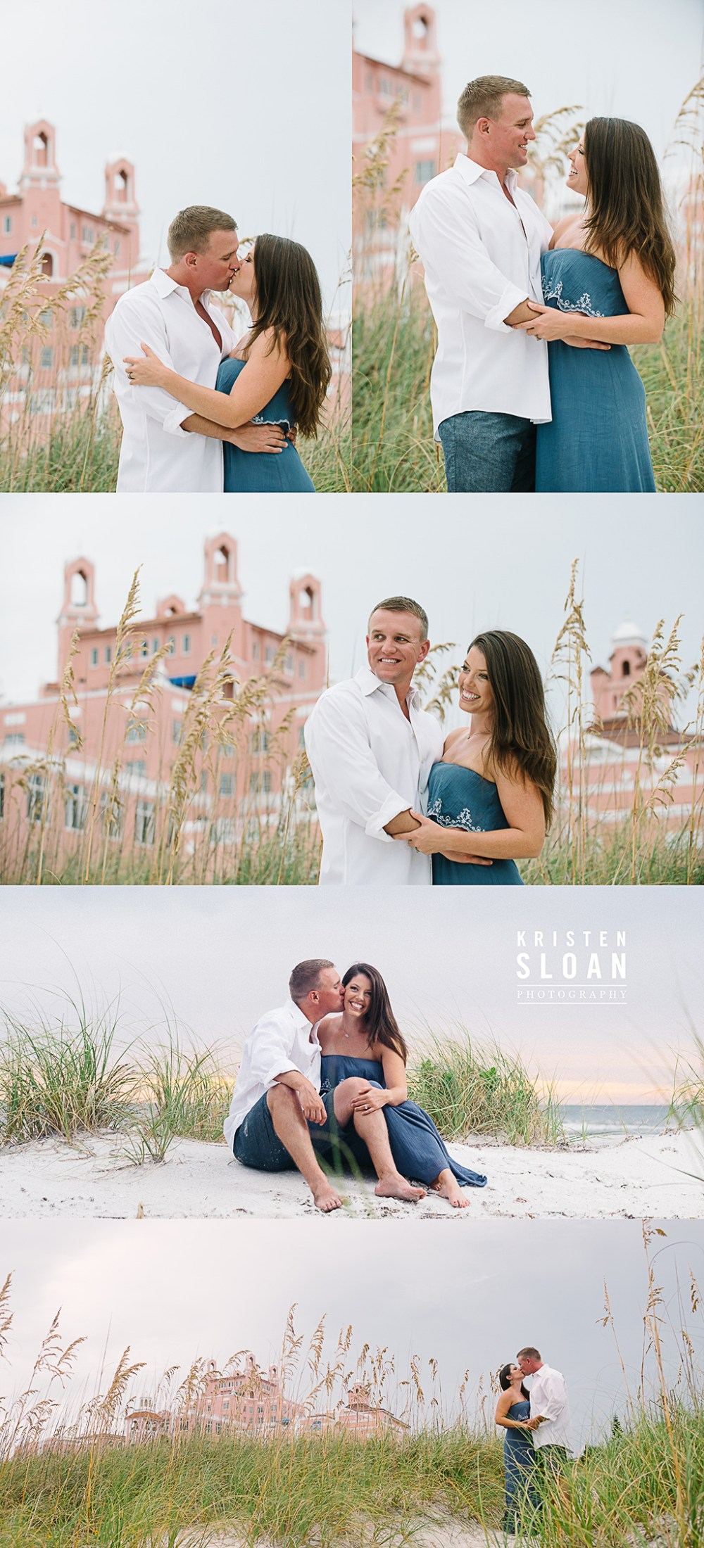Don Cesar Hotel Beach Family Portraits at Sunset | St Pete Beach Family Portraits |Treasure Island Beach Family Photos | Pass A Grille Beach FL Photographer |What to wear to your beach portrait session