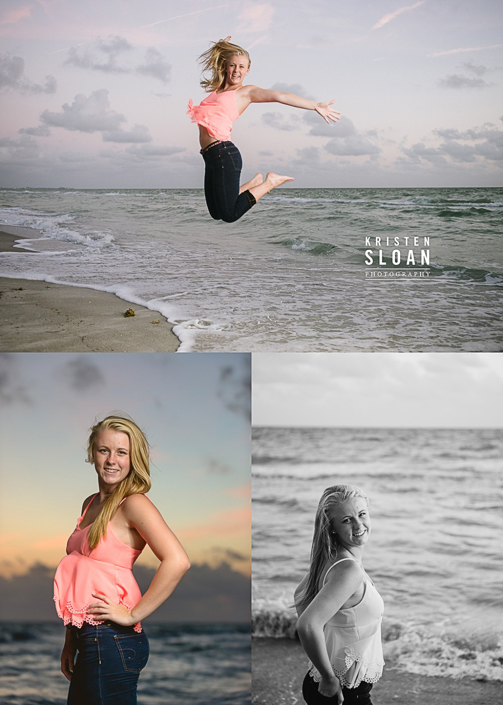 Longboat Key Florida High School Senior Sunset Photos