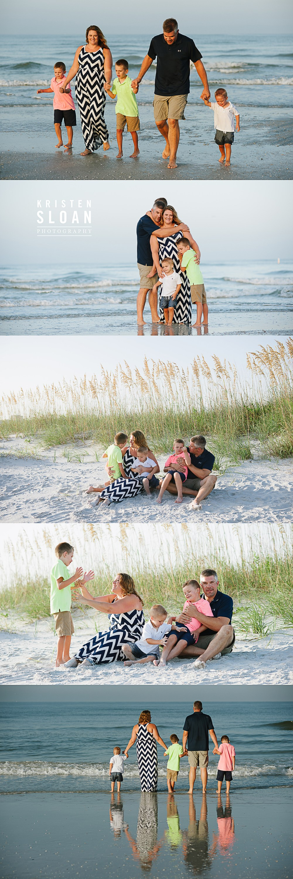 Sunset Vistas Beachfront Suites Morning Family Beach Portraits