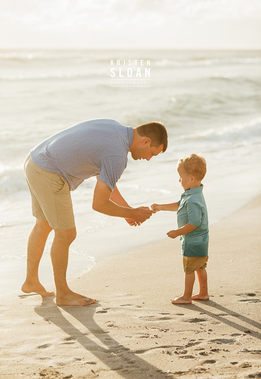 Longboat Key Kids Family Baby Beach Portrait Photos at Sunset by Kristen Sloan Photography | Anna Maria Island Photographer | Longboat Key Photographer | Florida Beach Portrait Photographer