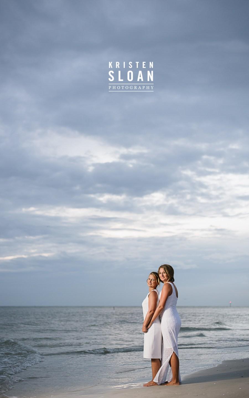 Treasure Island Beach Florida Wedding at Sunset Vistas Beachfront Suites | Gay Beach Wedding |Lesbian Wedding | St Pete Beach Florida Wedding Photographer | Treasure Island FL Wedding Portrait Photographer