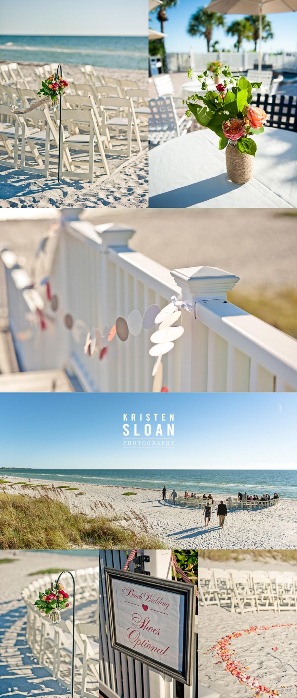 Boca Grande Club Gasparilla Island Florida Wedding | Sarasota FL Wedding Photographer | St Pete Beach Weddings | Beach Wedding Decor | Gulf Coast Florida Beach Wedding Ceremony