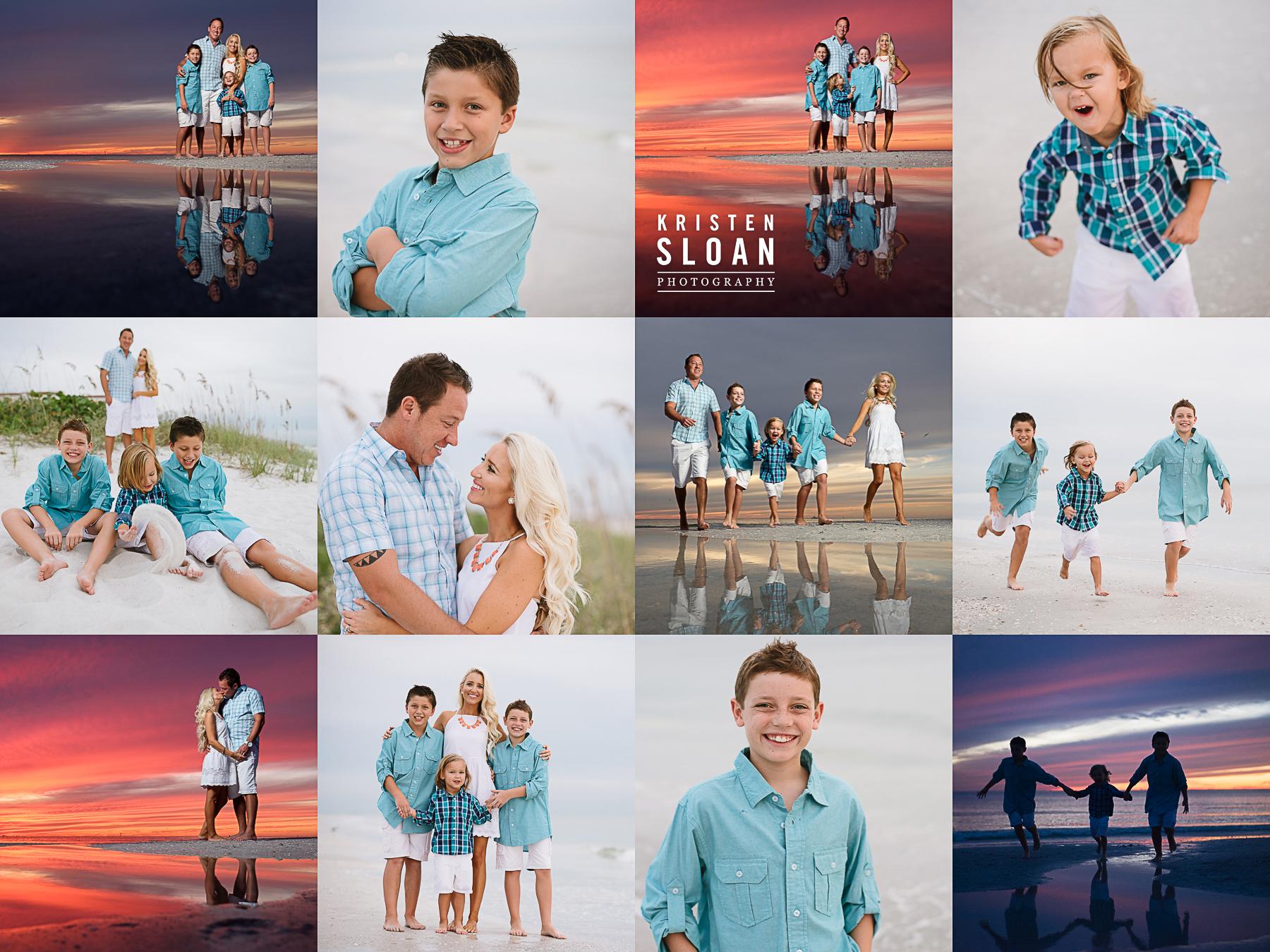 Sand Pebble Resort Condos Treasure Island Beach Family Portrait Photos at Sunset |Treasure Island FL Photographer | Gulf Coast Florida Sunset