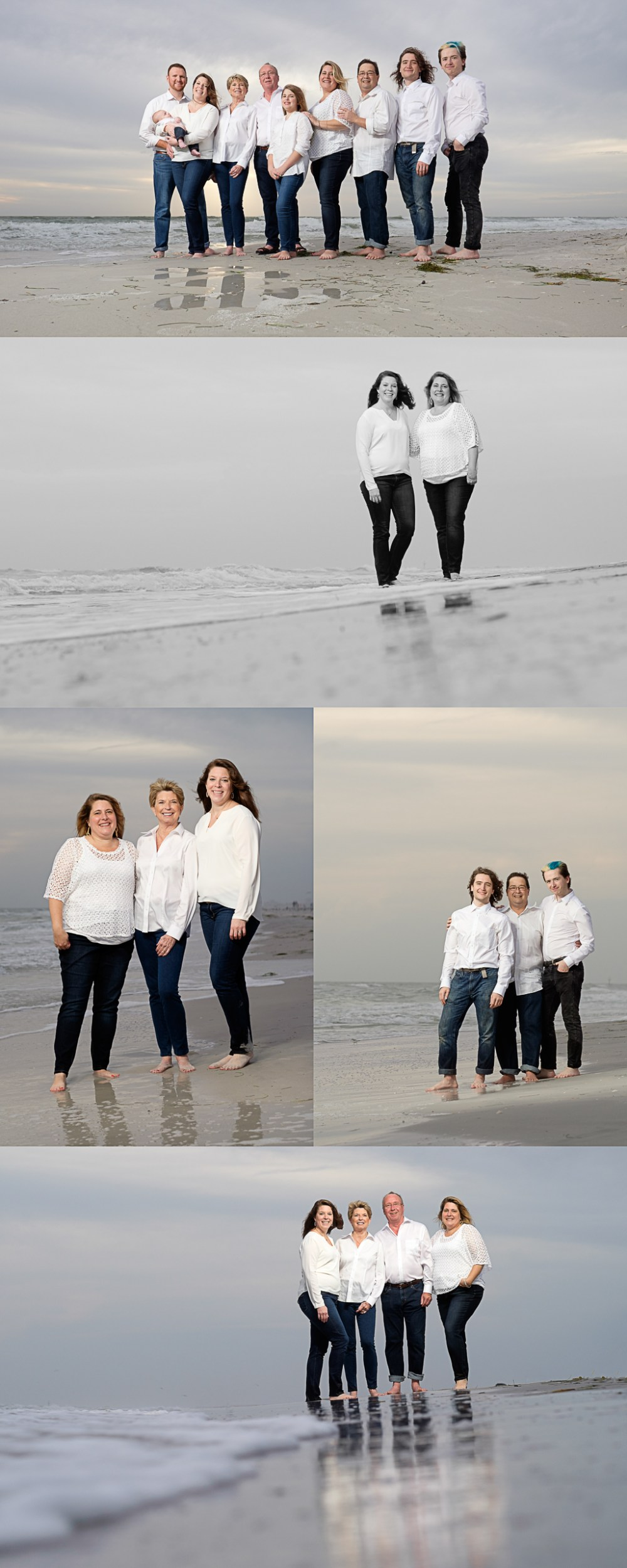 Treasure Island Florida Family Kids Baby Beach Portrait Photographer Kristen Sloan, St Pete Beach Family Kids Photographer, What to Wear to Your Portrait Session Blues and Whites