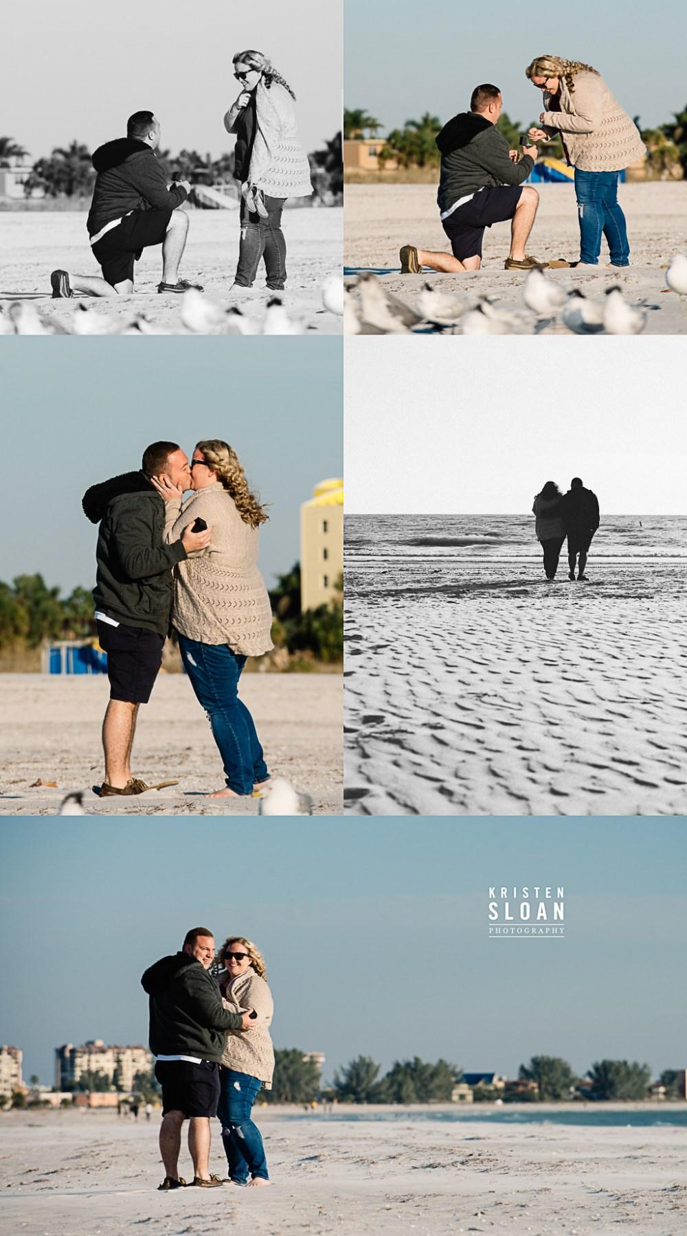 Surprise Beach Wedding Proposal in Treasure Island Florida