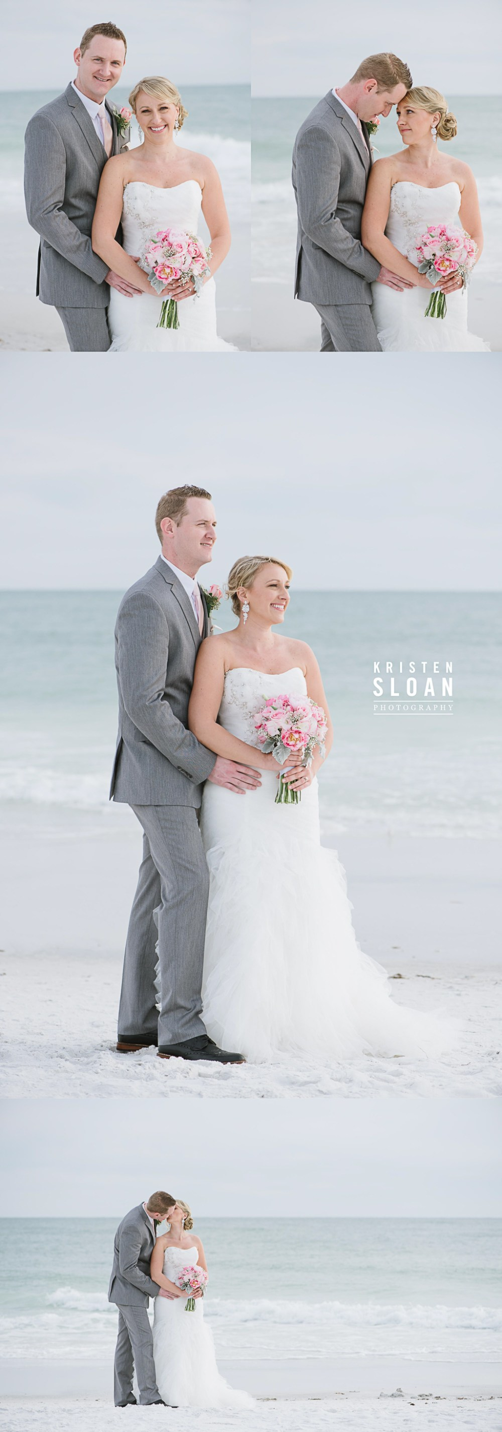 Anna Maria Island Florida Beach Wedding Photographer Kristen Sloan, Sandbar Restaurant Wedding Anna Maria Island, Beach Wedding Bride and Groom