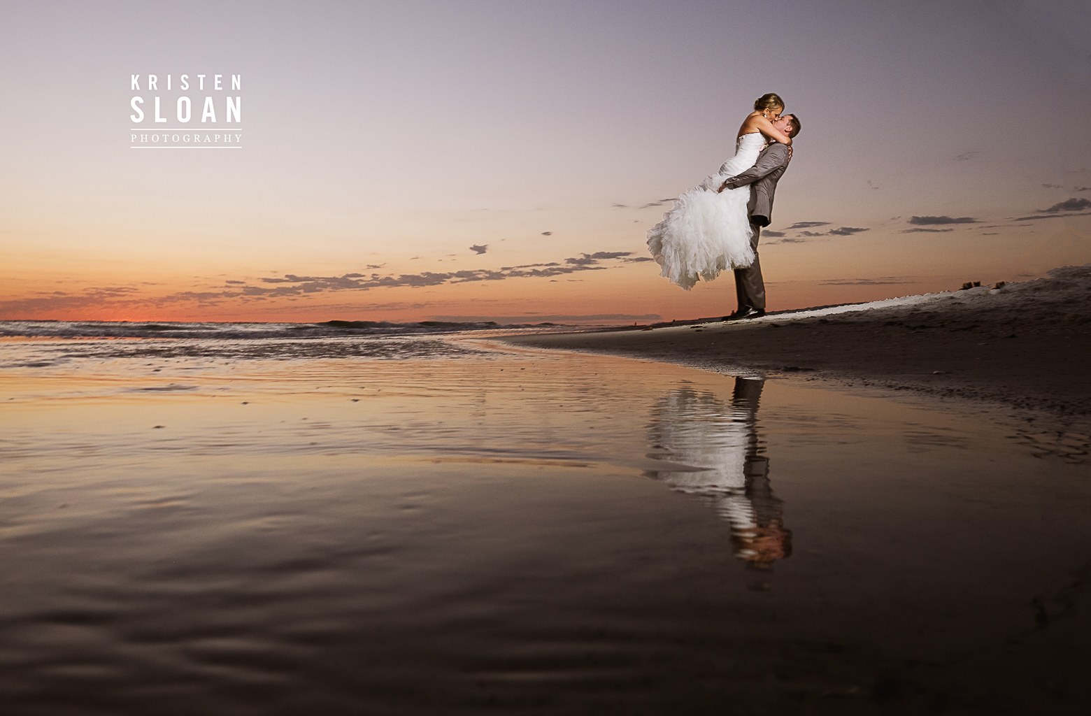 Anna Maria Island Florida Beach Wedding Photographer Kristen Sloan, Sandbar Restaurant Wedding Anna Maria Island, Florida Beach Wedding Sunset Bride and Groom