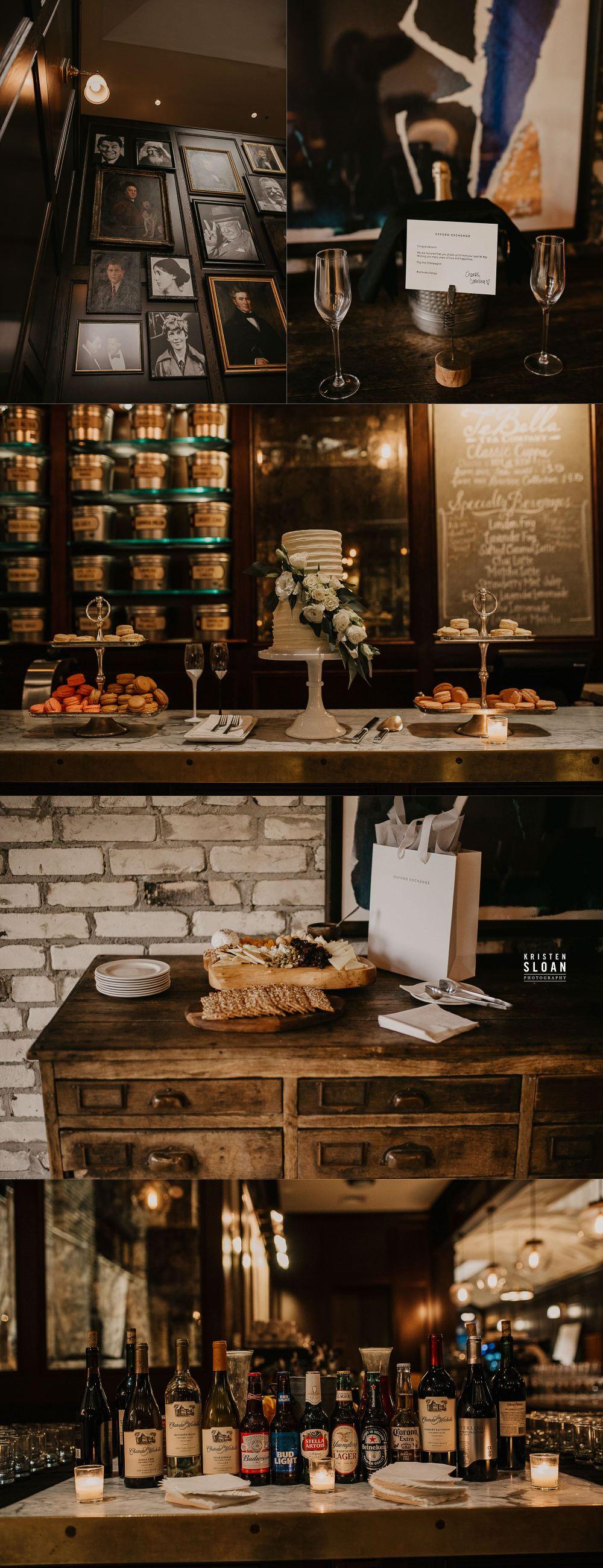 Oxford Exchange Tampa Wedding Food and Decor
