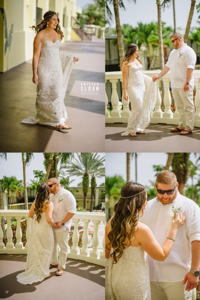 Sirata St Pete Beach Wedding First Look